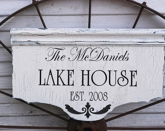 Custom Lake House or Cabin using Our**STENCIL***- 3 sizes available- Create Your Lake House Sign, Beach Sign or Cabin Sign
