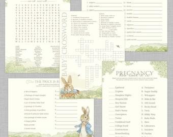 Peter Rabbit Baby Shower Games INSTANT DOWNLOAD