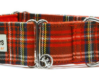 "Noddy & Sweets Adjustable Martingale Collar [1"", 1.5"", 2"" Tartan]"