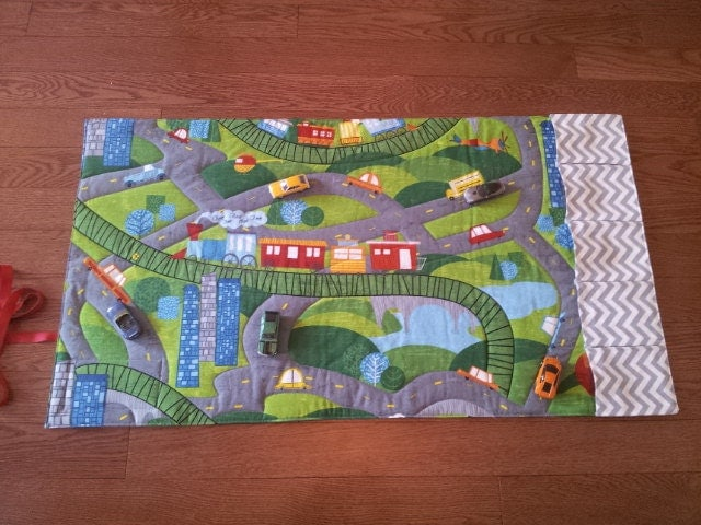 Car Road Play Mat-Playmat-Train Mat-Personalized-Road Play Mat ... : quilted play mat baby - Adamdwight.com