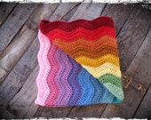 Rainbow Baby Blanket, Rainbow Lovey, Car Seat Blanket, Stroller Blanket, Baby Shower Gift, Nursery Decor, OFG FAAP
