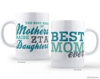 ZTA Zeta Tau Alpha Best Mom Sorority Mug