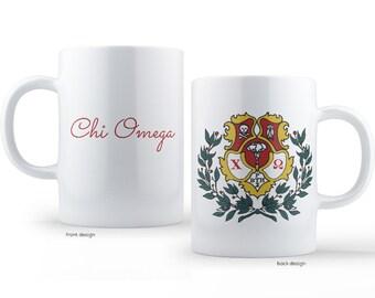 ChiO Chi Omega Crest Sorority Mug
