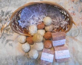 Basket Full of Handmade Natural Soap