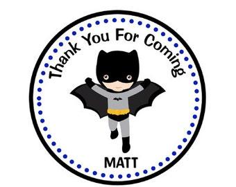 Batman Birthday Favor Tags - Batman Party Favor Tags