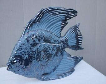 Vintage Handmade Blue Angel Fish #3406