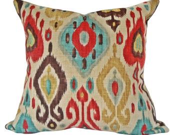 Richloom Ikat Decorative Pillow Cover - Throw Pillow - Toss Pillow - Both Sides - 12x20, 14x24, 16x16, 18x18, 20x20, 22x22