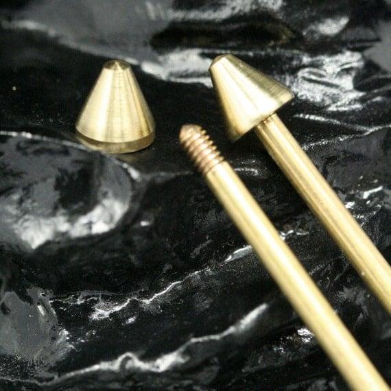 "2 pcs 7 x 88 mm 0.27"" x 3.46""  3 mm 0.12"" bar, 71 mm 2.8"" inner lenght barbell,  raw brass finding BB3-7-88"