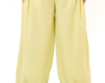 Womens Bell shaped harem pants in cotton , plus size.