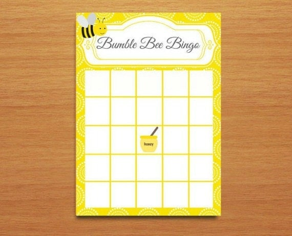 Items similar to Instant Download Bumble Bee Bingo Baby ...