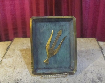 Brass Israel Plaque