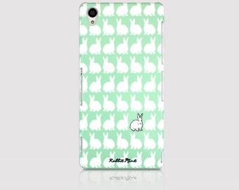Sony Xperia Z3 Case - Mint Rabbit Pattern (P00066)