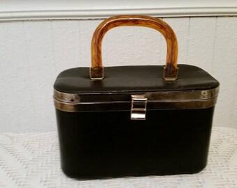 Vintage Small Black Overnight Case