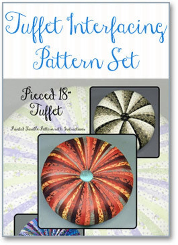 "18"" TUFFET PATTERN Fusible printed interfacing with Instructions by Tuffetsource"
