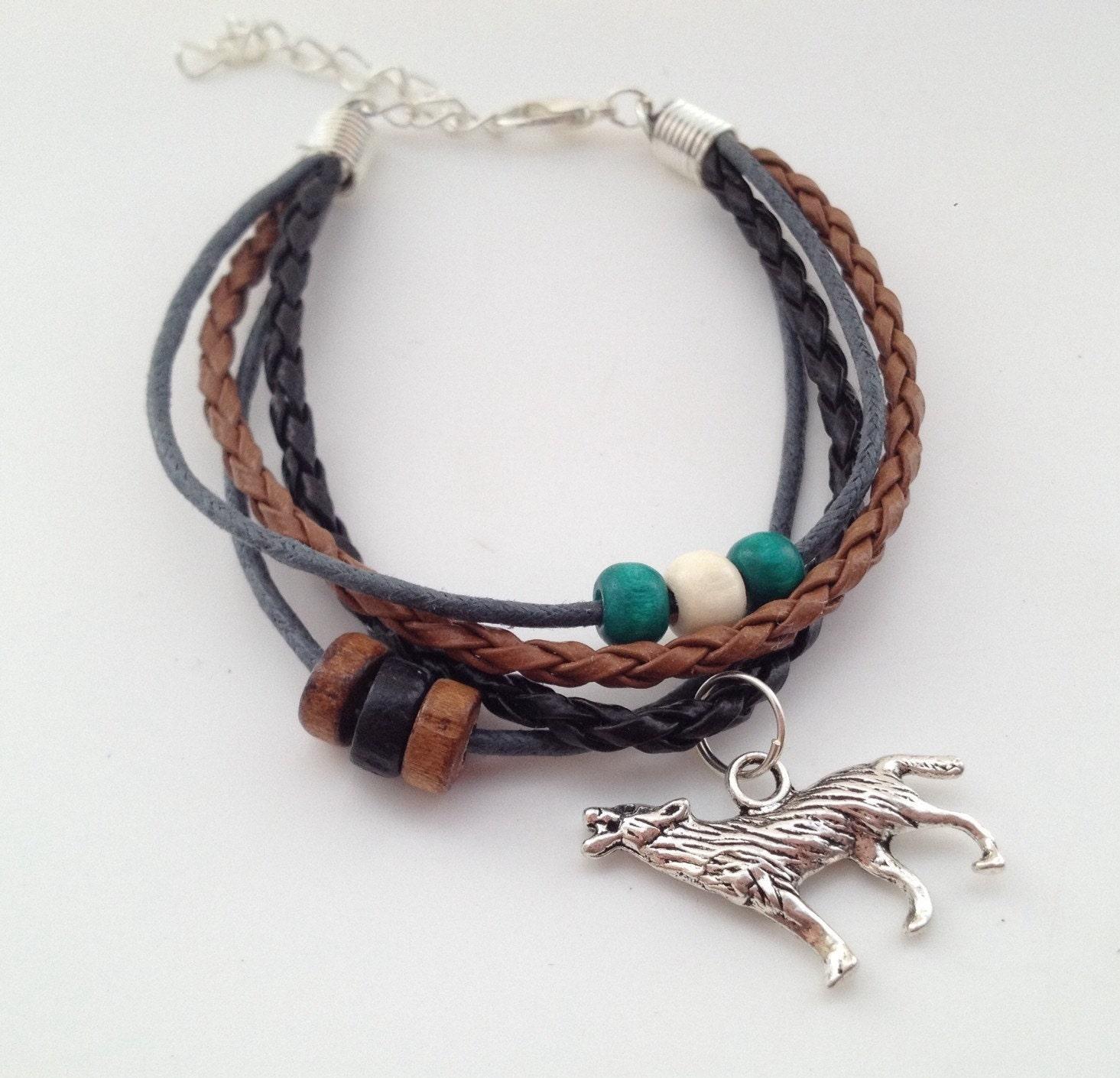 Wolf Bracelet Bohemian Bracelet Native American Tribal