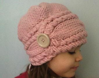 hand knit, knitted hat,  knit, Knit Kids Hat, knit hat, Winter Hats