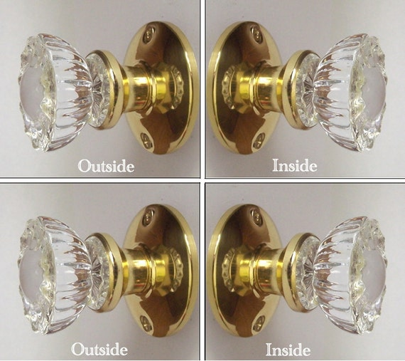 Crystal french door knobs two sets 4 knobs perfect for French door knobs