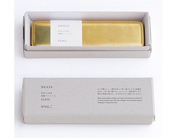 Brass Pen Case Genuine Traveler's Notebook Midori Desktop office accessory BIRTHDAY CHRISTMAS Gift Kris Kingle Idea