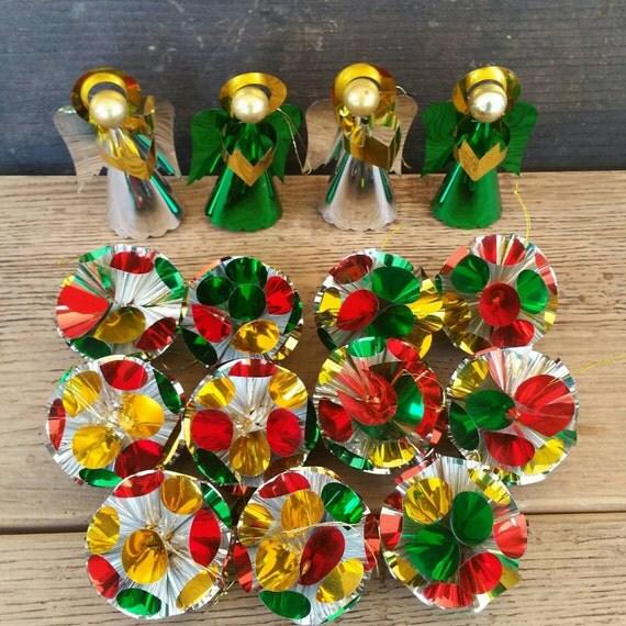 Foil ornaments aluminum pom angels