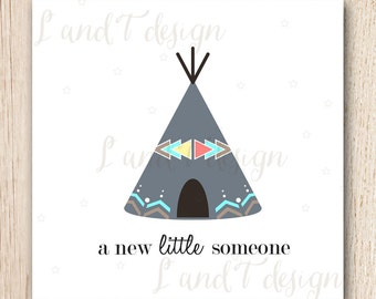 New Baby {Tee Pee} Card