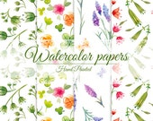 4 digital paper, hand-painted in watercolor. 4 jpg files. very high resolution - 300 dpi.