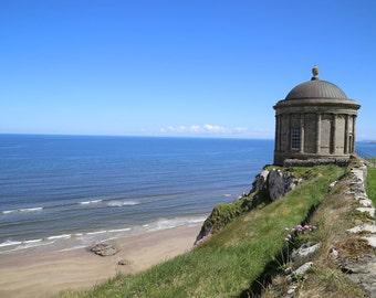 Mussenden Temple Photography, Irish Landscape Photography, Ireland Art Print, Home Decor, Atlantic Ocean, Beach Photograph - On the edge
