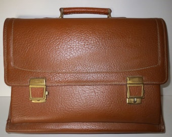 Pocket Briefcase teacher bag handbag purse cognac