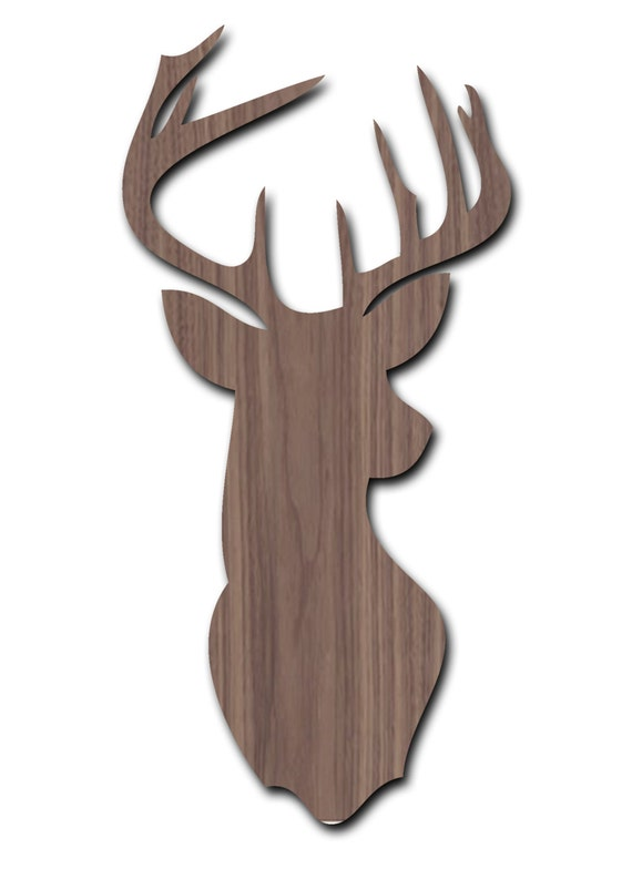 Stag head laser cut wall art decor by tvlcreative on etsy - Decorative stags head ...