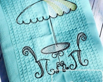 Cafe Sketch Embroidery Design