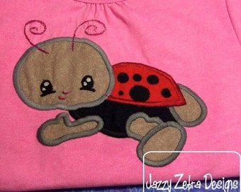 Lady Bug 70 Appliqué embroidery Design - bug Applique Design - ladybug Applique Design - spring Applique Design - baby Appliqué Design
