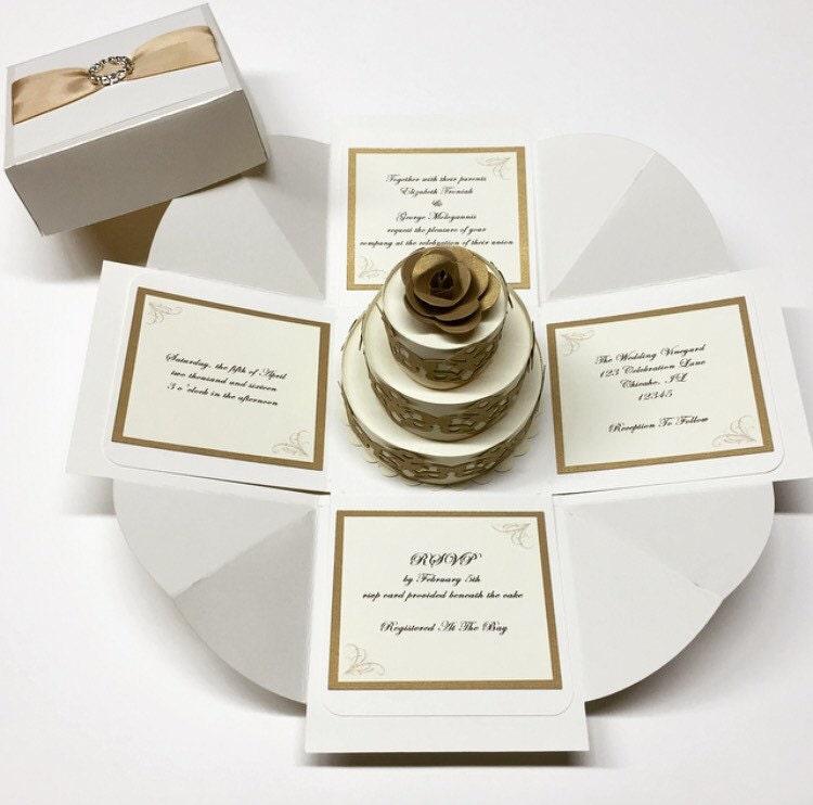 Box Wedding Invitations: Exploding Box Wedding Invitation Exploding Boxes Exploding Box