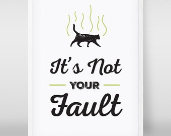Friends TV Show Minimalist Poster | Smelly Cat Typography It's Not Your Fault | Friends Print | Friends TV Show