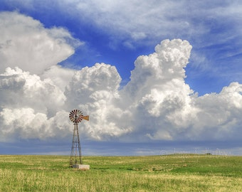Springtime on the Prairie- Landscape Photography - Fine Art Print