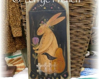 Prim Bunny Breadboard,  Terrye French, pattern packet email