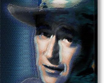Young John Wayne Pop 2 on Stretched Canvas