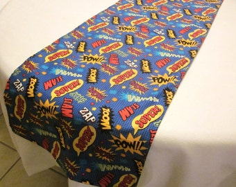 Superhero Table Runner, Super Hero Party, Birthday Party Decorations, Baby Shower, Party Favors, Wedding, Bridal Shower