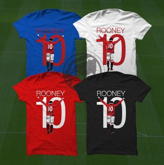 Wayne Rooney T Shirt Wayne Rooney T Shirt MUFC Soccer Player Size S to Xxxl Custom