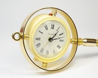 Vintage Alarm Clock  Vityaz, Key Rostov Don, USSR Mechanical clock, Soviet Working clock , Old alarm clock , Russian Desk Clock