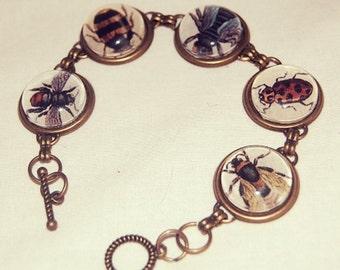 """Handmade Artisan """"Bugs"""" Bracelet"""