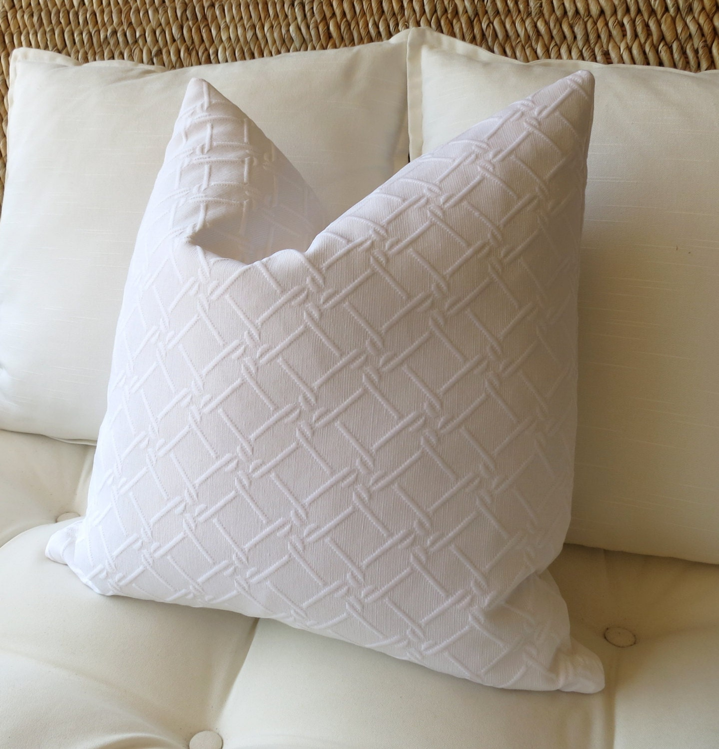 White Throw Pillows. Home Goods / Home Decor / Decorative Accessories / Throw Pillows. of 5, Results. Set of 2 Retro Farmhouse Black and White Throw Pillow Case 18 x 17 Reviews. Clay Alder Home Sakonnet Decorative inch Mall Pillow Cover.