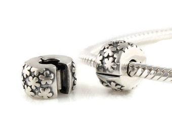 Sterling Silver Clip & clasp  charm - european bracelet - european charm