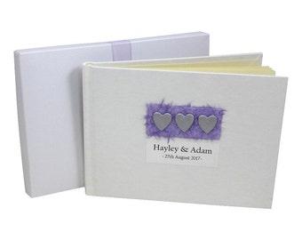 Wedding Guest Book - 3 Hearts