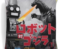 Tokyo Cushion Tin Robot Sofa Pillow Godzilla Plush Fashionable Toy Home Decor Colourful Japanese Cult Movie Film
