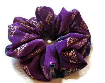 Boho Scrunchie Purple Hair Accessories - #47 - Handmade by Just Scrunchies for Summer at the Beach