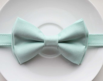 B095 Very lovely mint bow tie For baby/Toddler/Teen/Adult/with Adjust strap/Clip on