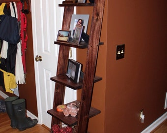 Custom Sized Ladder Shelves