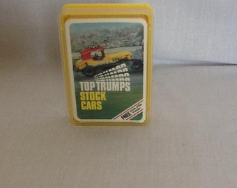 Vintage Dubreq Stock Cars Top Trumps Card Game - boxed