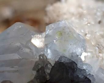 Pale Transparent Blue Celestite Crystal Cluster