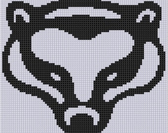 Badger Head Cross Stitch Pattern