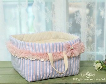 Sky Candy - Designer Handmade carrier/house/toy basket  for puppy.